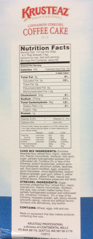 Amazon.com : Krusteaz Cinnamon Streusel Coffee Cake Mix, 7-Pounds : Grocery & Gourmet Food