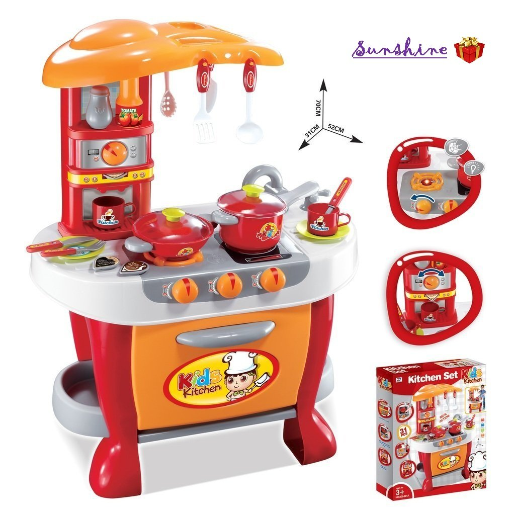 Xiong Cheng Kids Kitchen Pretend Play Battery Operated Toy Set Multi Color Buy Online In Bermuda At Desertcart Productid 76027023