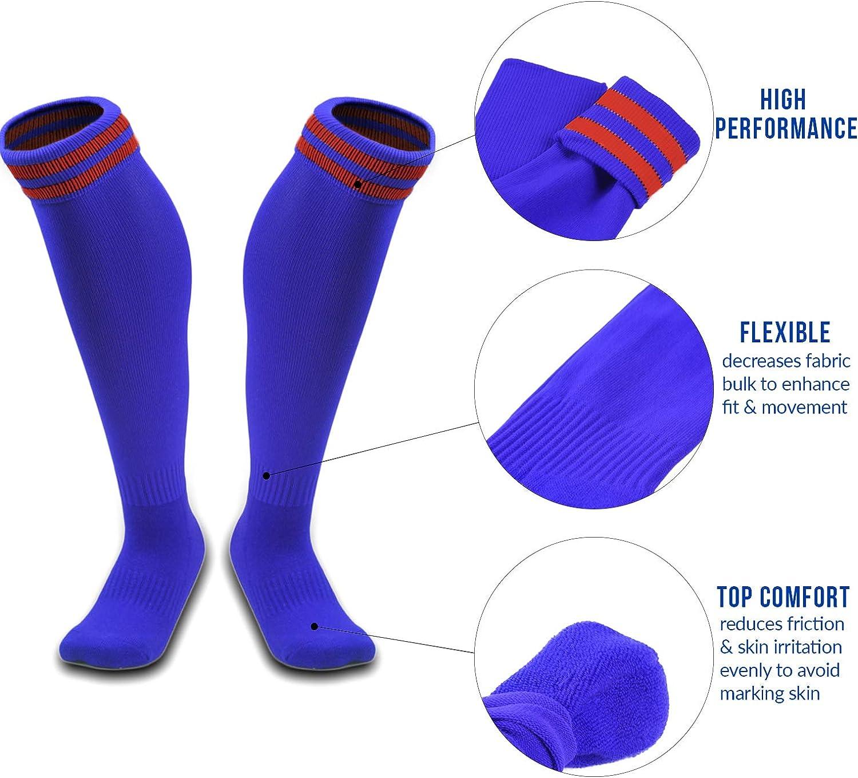 AATMart Girls 1 Pair High Performance Knee-High Sports Socks XL0002 Size XS//SM