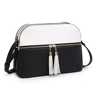 d859510a732 Dasein Women Tassel Zipper Pocket Crossbody Bag Shoulder Purse Fashion  Travel Bag with Multi Pockets (
