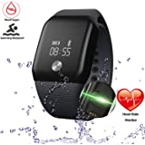Getfitsoo Smart Bracelet Watch, Swimming Waterproof Fitness Tracker with Heart Rate Blood Oxygen Mmonitor Bluetooth Sport Wristband Steps Calories Counter Call SMS Rminding for Android & IOS