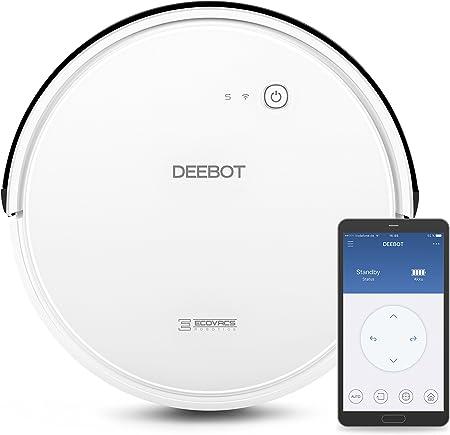 Ecovacs Deebot 600 - Robot Aspirador 4 en 1: barre, aspira, pasa mopa y friega, navegación inteligente, App, Wifi, 4 modos de limpieza, 2 niveles de succión, suelo duro, detecta obstáculos, blanco: Amazon.es: Hogar