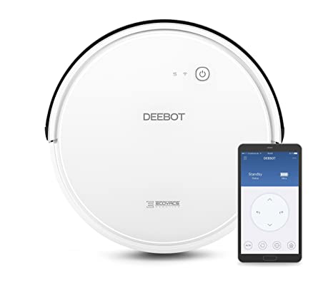 Ecovacs Deebot 600 - Robot Aspirador 4 en 1: barre, aspira, pasa mopa y friega, navegación inteligente, App, Wifi, 4 modos de limpieza, 2 niveles de ...