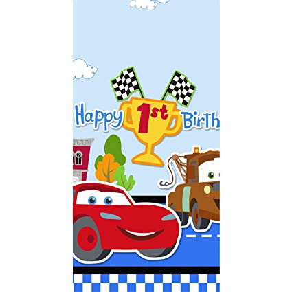 Amazon Com Disney 1st Birthday Cars Plastic Tablecover Party