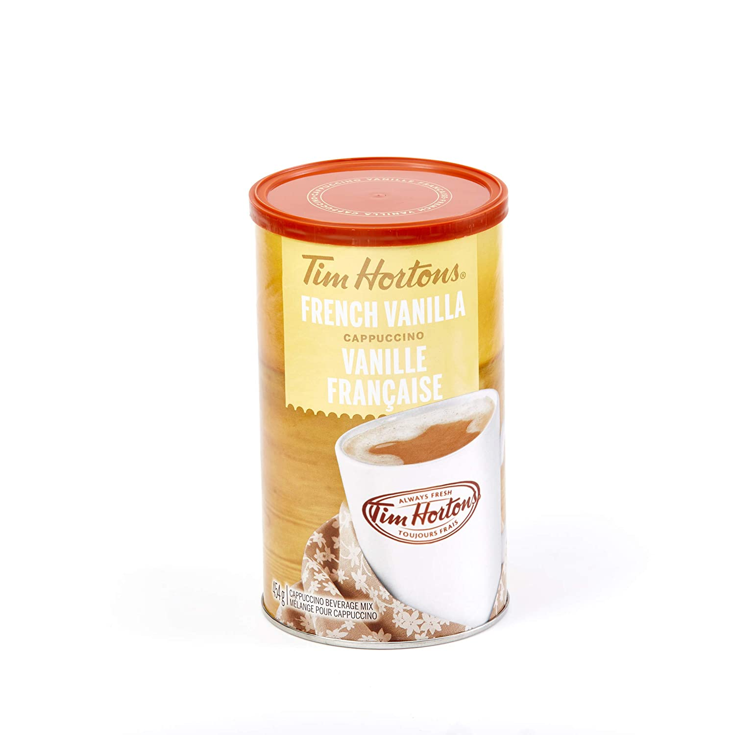 Amazon.com : Tim Horton's Instant Cappuccino, French Vanilla, 16 Ounce : Instant Coffee : Grocery & Gourmet Food