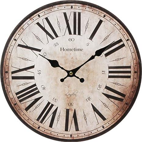 WERLM Diseño personalizado decorativos para el hogar reloj de pared Reloj de pared Reloj de arte antiguo salón ...