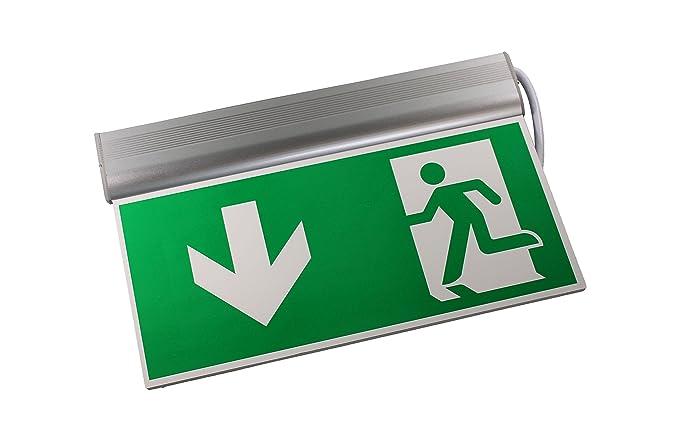 Sensorit led via di fuga exit standard illuminazione di emergenza