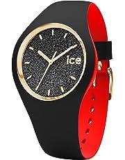 Ice-Watch - Ice Loulou Black Glitter - Montre Noire pour Femme avec Bracelet en Silicone