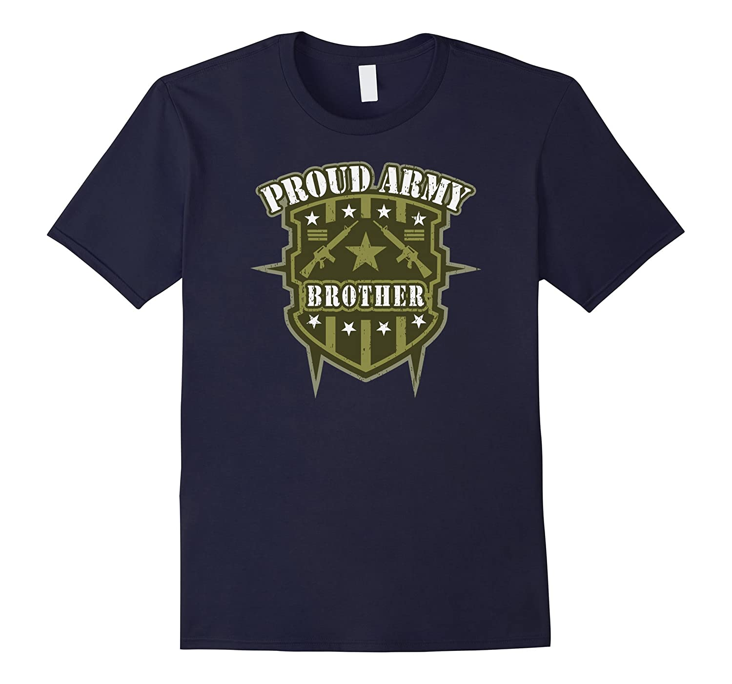 Proud Army Brother Military T-shirt-Vaci