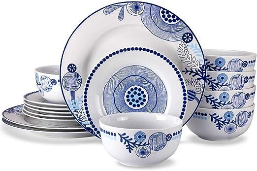 Amazon Com 18 Piece Dinnerware Set Doublewhale Dinner Plates