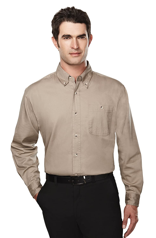 Tri-Mountain Men's Big Tall Executive Cotton Twill Shirt (19 Colors, XS to 6XLT) 810