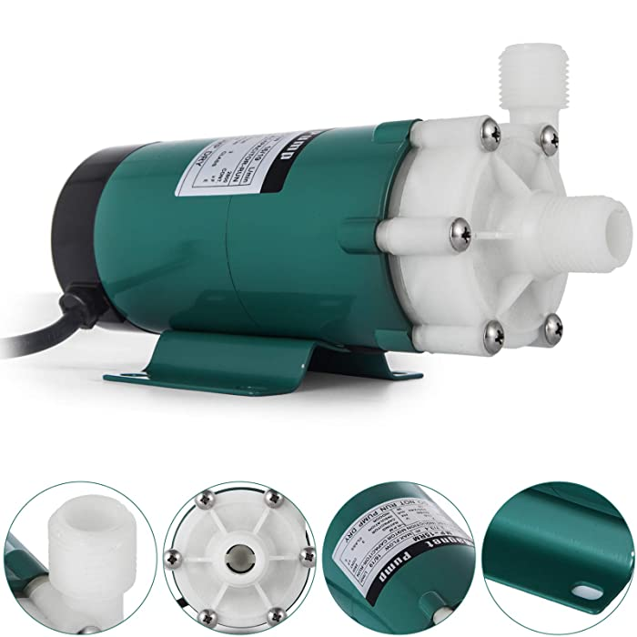 Happybuy MP-15RM beer brewing pump Plastic Head with 0.5 inch MPT Magnetic home brew pump 110 Volt Inline Home Brewing System Beer Pump