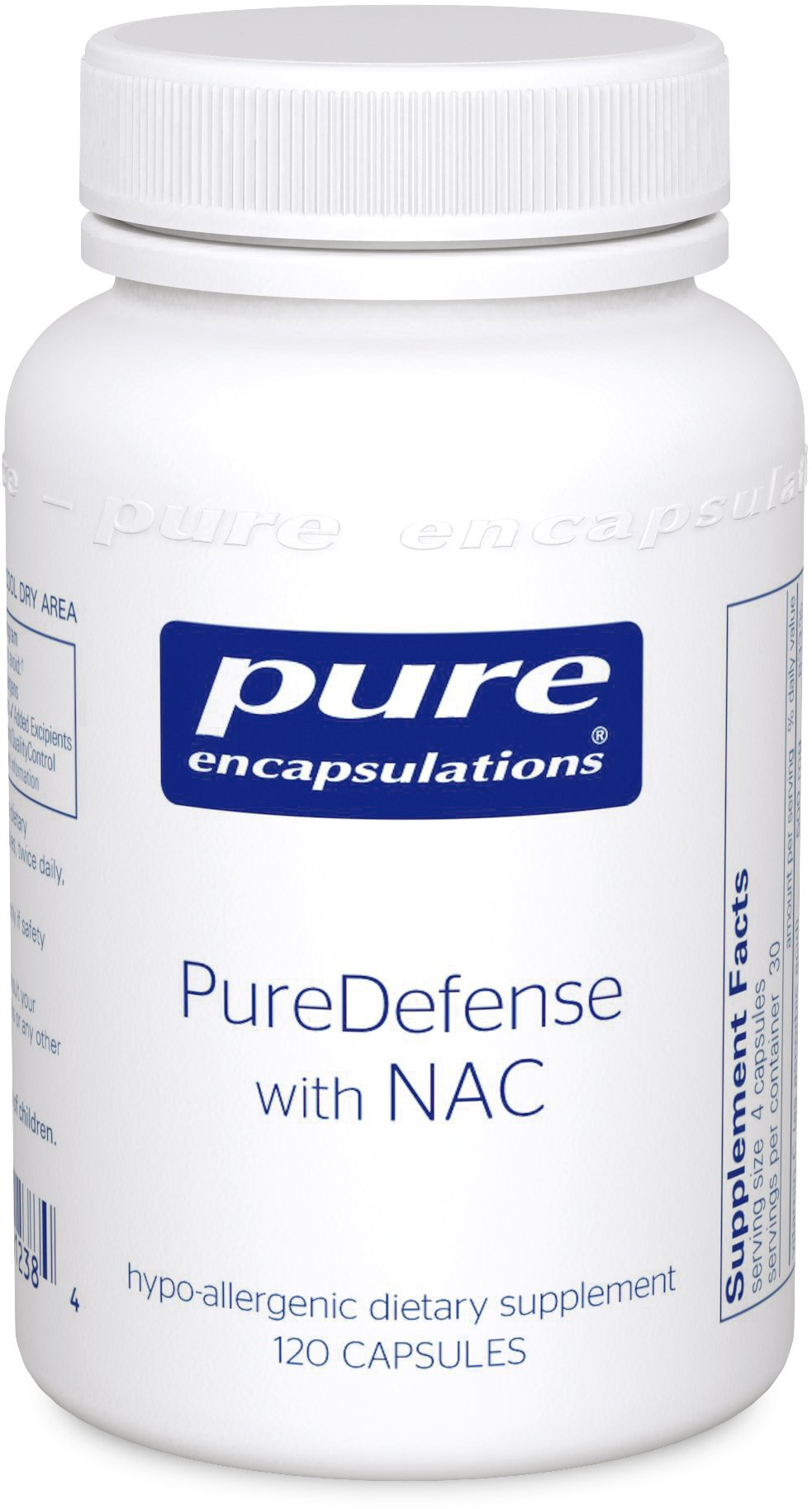 Pure Encapsulations - PureDefense with NAC - Hypoallergenic Supplement for Enhanced Immune Defense and Upper Respiratory Support* - 120 Capsules