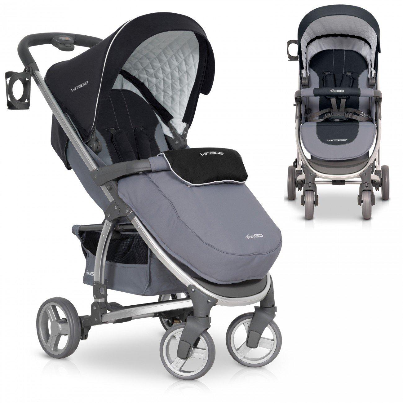 Silla de paseo VIRAGE Carrito con Capazo de alta calidad, color Carbon product image