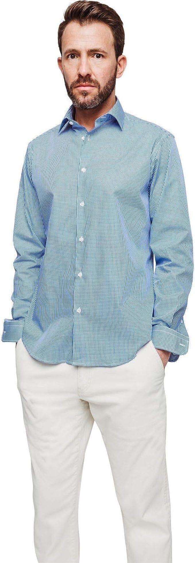 Arrow - Camisa regular con cuadros vichy azul zafiro: Amazon ...