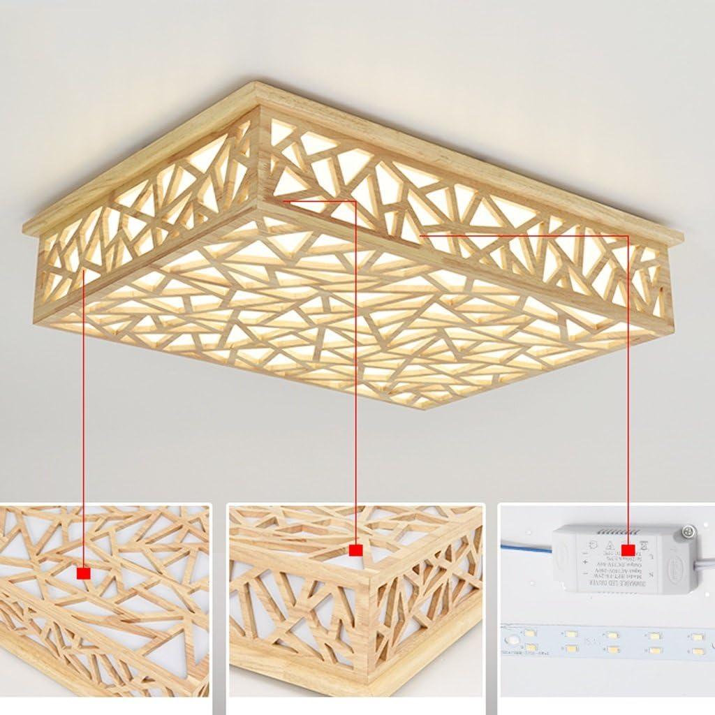 Lámpara de Techo Creativa hueco techo de madera, lámparas de techo ...