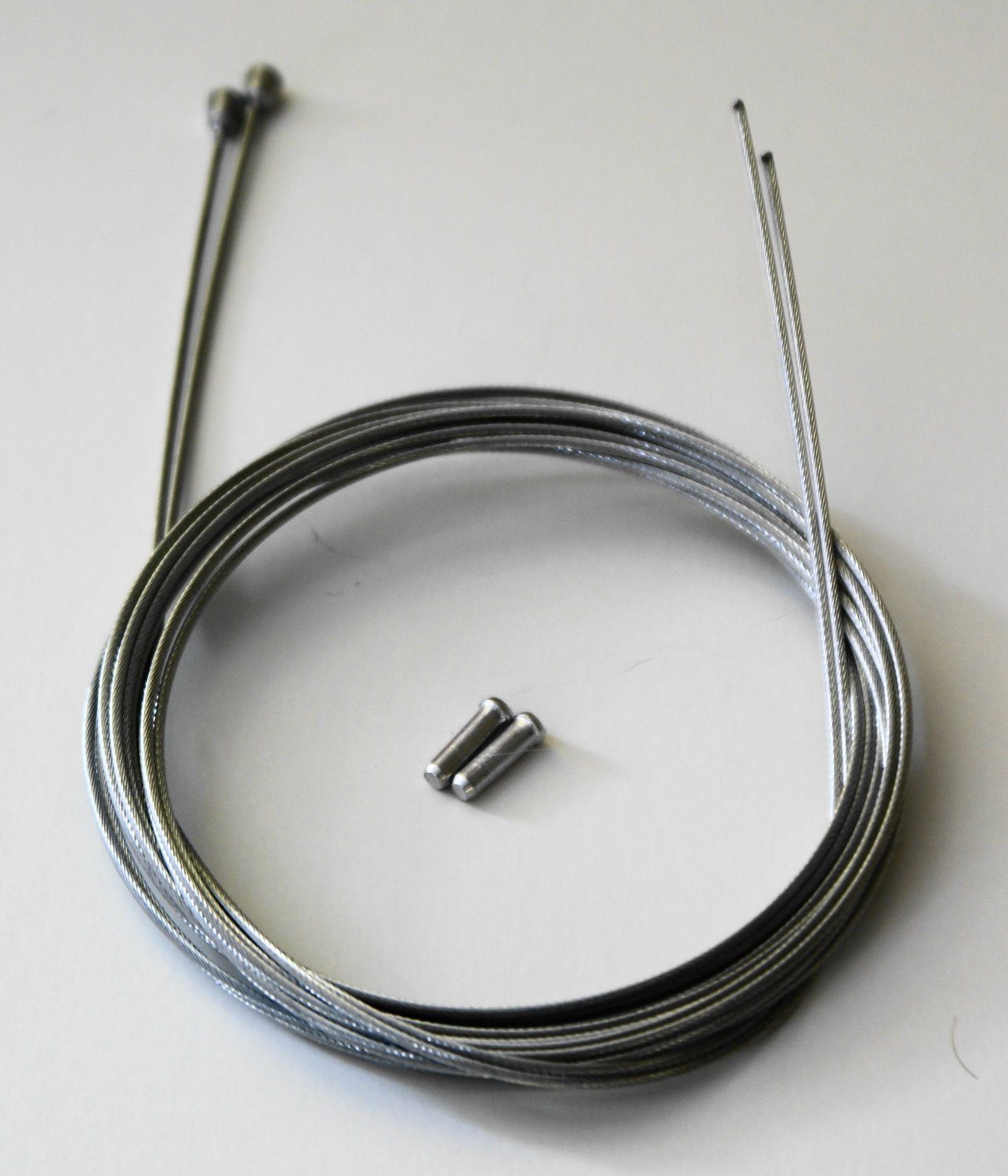 2 X Clarks Barrel Ended Galvanised Bike Brake Cable Inners With Alloy Crimp /&