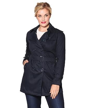 4397 NVY 08: Manteau Trench Coat   Bleu Marine   Taille 36