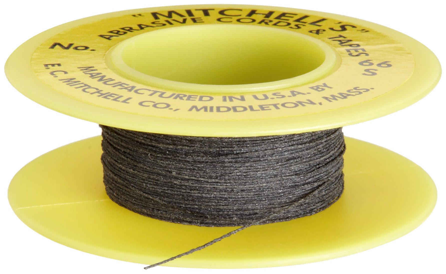 Mitchell Abrasives 66-S Round Abrasive Cord, Silicon Carbide 280 Grit .012'' Diameter x 50 Feet