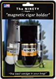 The Ninety Degree Wedge - The Ultimate Premium & Versatile, Magnetic Cigar Holder - White / Black (Made in the USA)