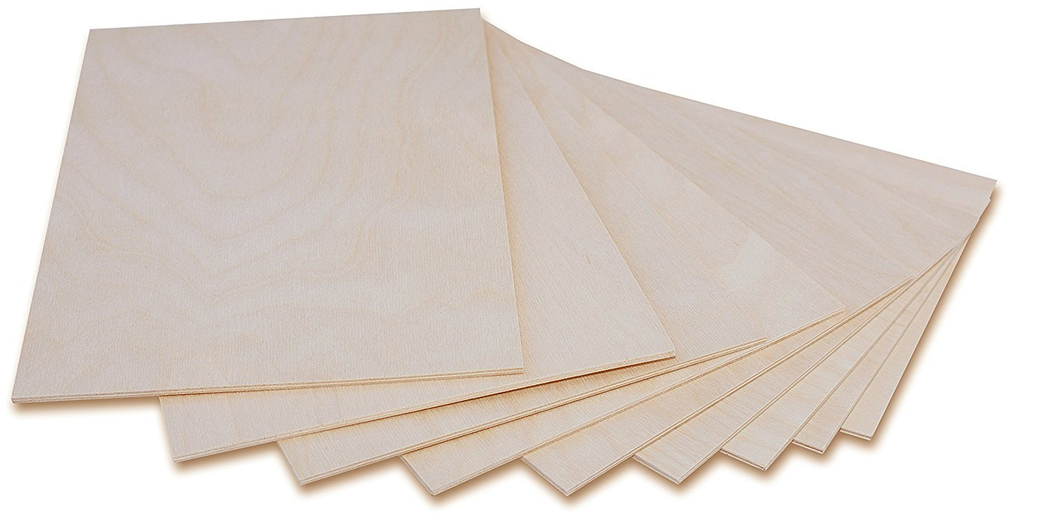 1 x A4 Plywood Sheets 3mm | 300 x 210 x 3 mm | Baltic Birch Wood Ply | Perfect for Pyrography, Laser Cutting, CNC Router, Modelling, Fretwork, Scroll Saw MyEveryDayHome.com LTD
