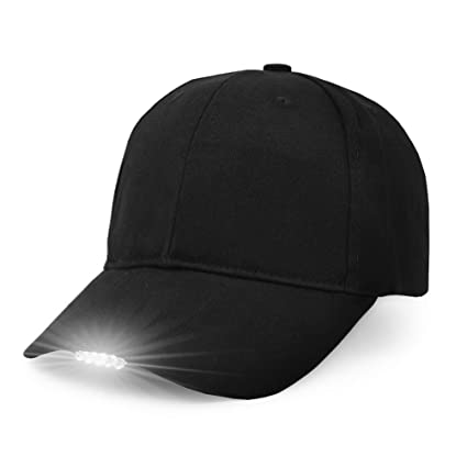 424a178bfdc UltraKey Hands Free LED Baseball Cap Light Glow Bright Women Men Sport Hat  Dark for Outdoor
