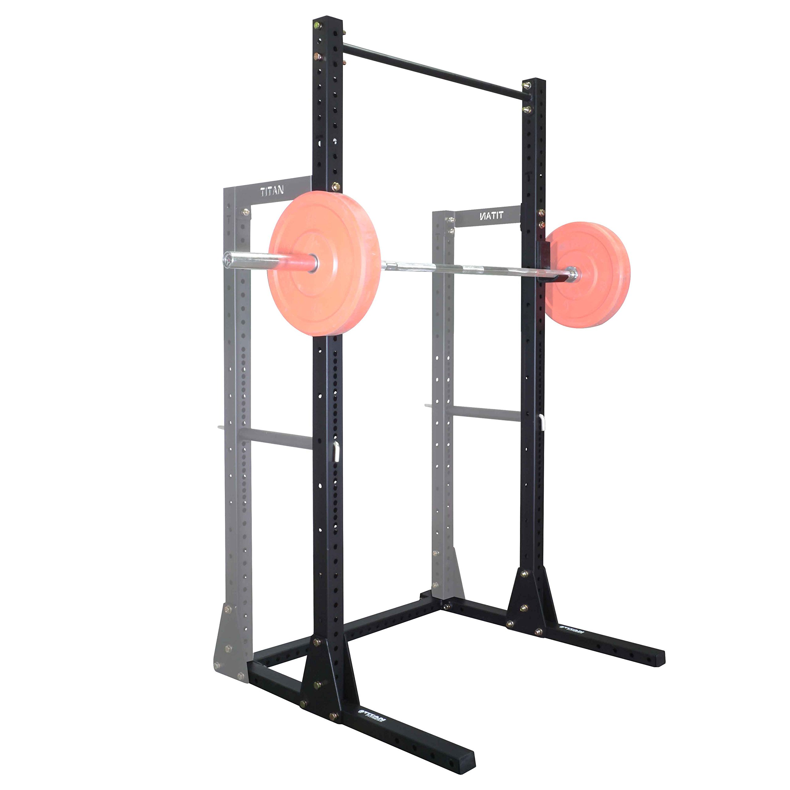 Titan X-3 Adjustable Squat Stand w/ Pull Up Bar 3'' x 3'' Heavy Duty by Titan Fitness (Image #5)
