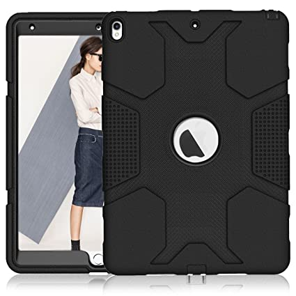 detailed look f7364 83644 iPad Air 3 Case/iPad Pro 10.5 Case A1701/A1709, ZHK Rugged Heavy Duty  Anti-Slip Shockproof Hybrid Hard Rubber Bumper Protective Case with  Kickstand ...