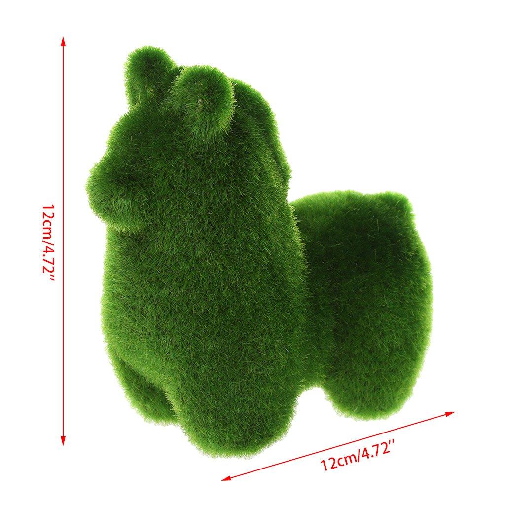 D/écoration pour Bonsa/ï Bureau Accueil /Écureuil: 10x11cm Lunji Paysage Miniature Gazon Lapin Artificiel Doux