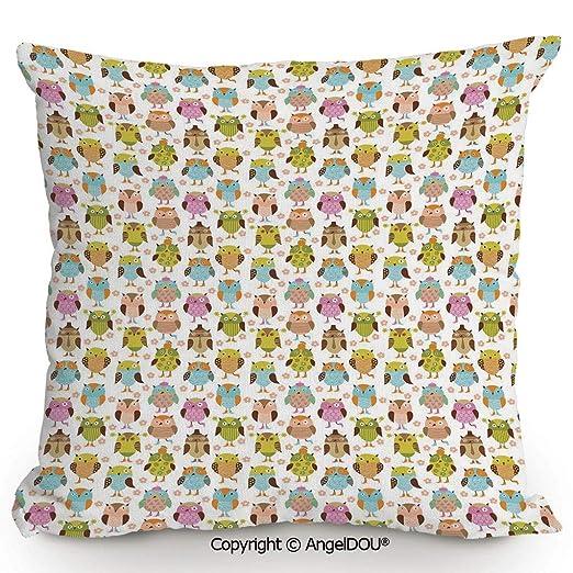 AngelDOU - Cojín de Lino y algodón para sofá, Inspirado en ...