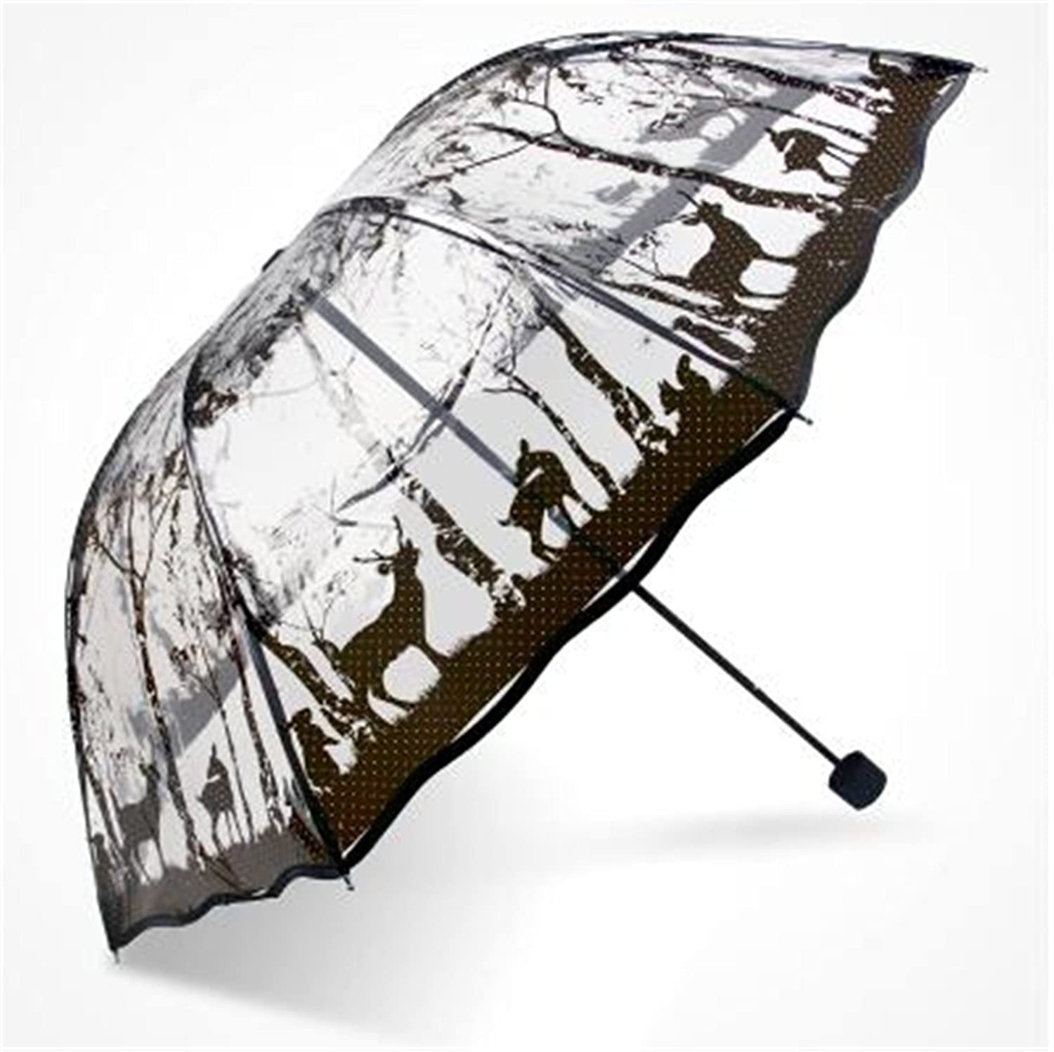 Amazon.com: Kongsta Hot Selling Transparent Umbrella Three Folding Umbrella Rain Women Cheap Paraguas Small Fresh Parasols 4 Designs Brief: Sports & ...