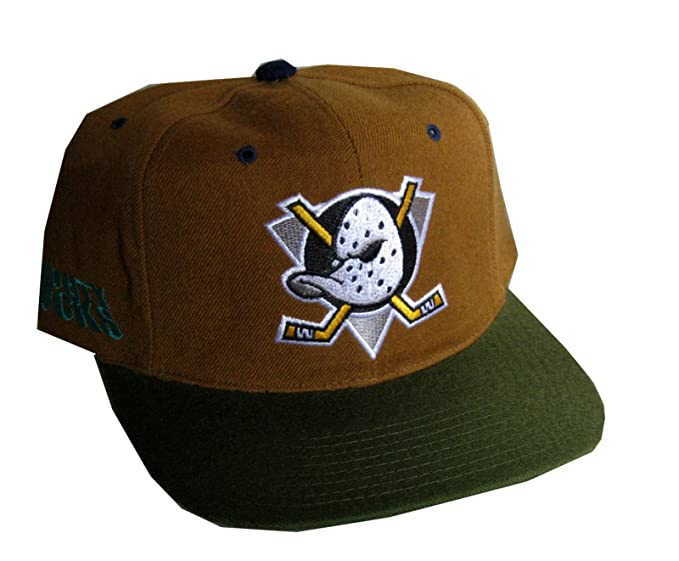 2928034bbe4 American Needle Men s Snapback Cap Vintage Mighty Ducks Adjustable 22.44  Inch - 24.61 Inch Brown
