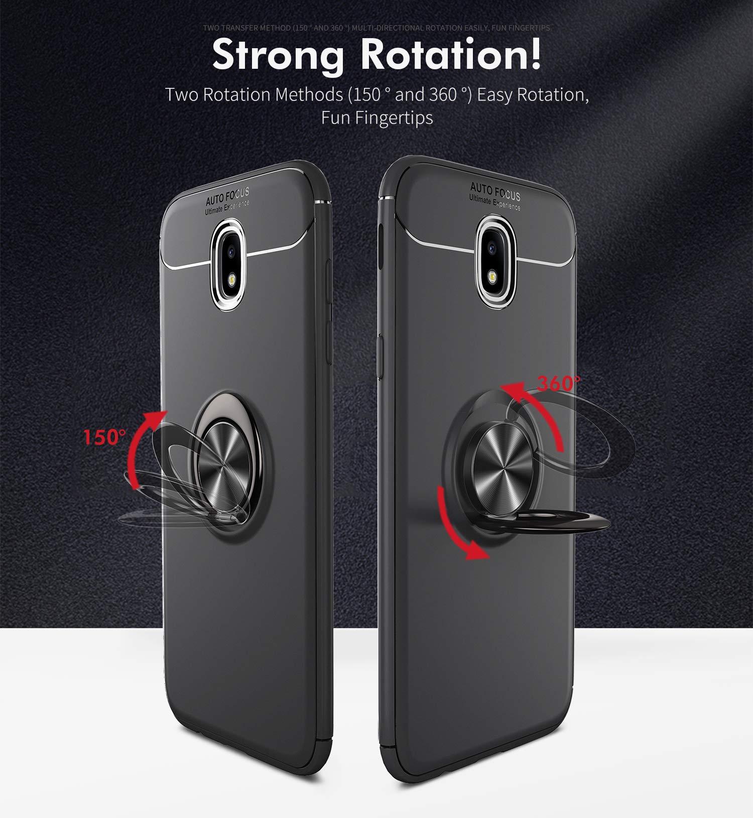 Samsung Galaxy J3 Prime Case,J3 Emerge Case LEECOCO Heavy Duty Tough Armor Box Dual Layer Hybrid Hard PC and Soft TPU Shockproof Defender Case for Samsung Galaxy J3 2017 Heavy Orange