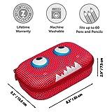ZIPIT Beast Pencil Case/Pencil Box/Storage Box, Red