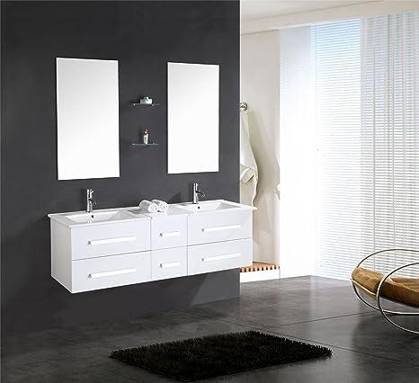 Muebles para baño Modelo White Rome 150 cm para cuarto de baño con ...