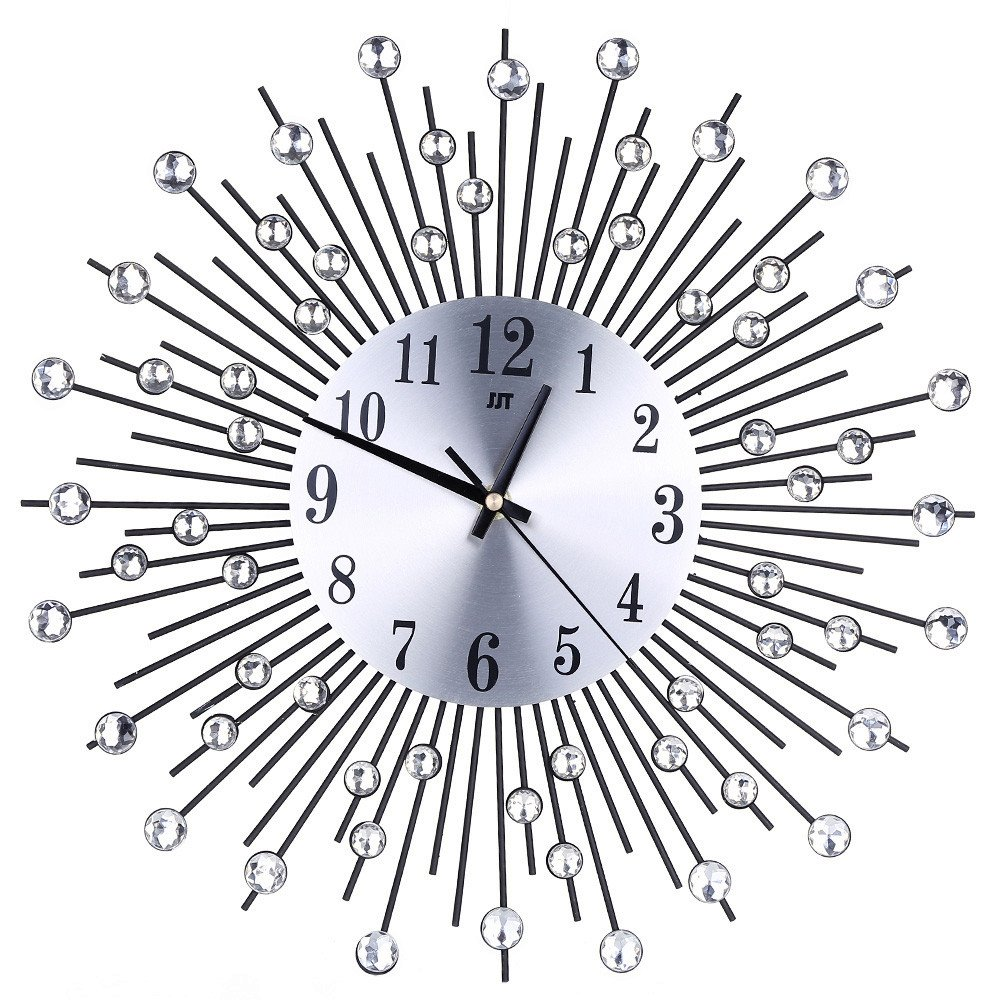 XIANAER Wall Clock Silent Decoration Non-Ticking Classic Digital Battery Operation Round Easy to Read Home Office School Clock by XIANAER