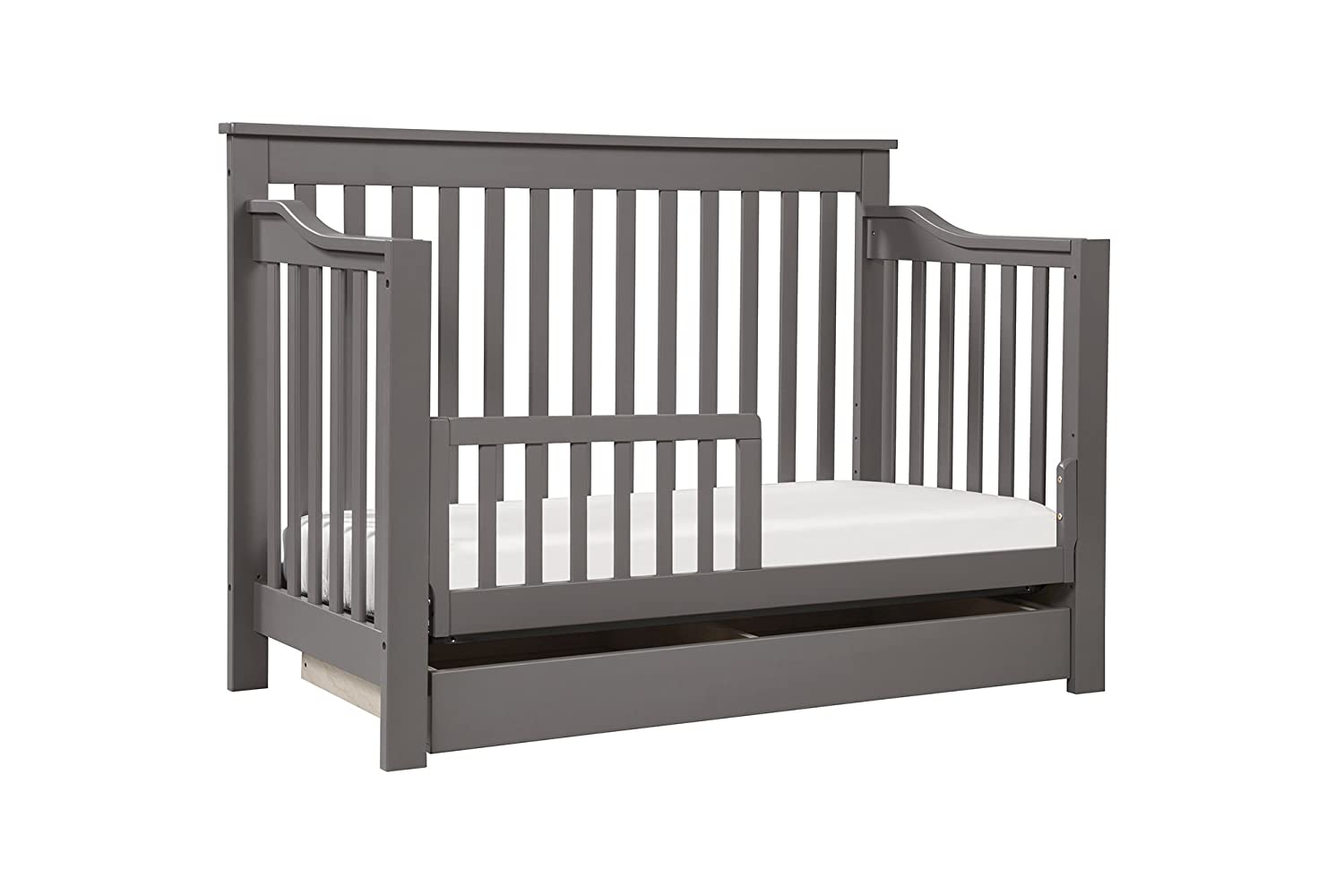 amazoncom davinci piedmont 4in1 convertible crib with toddler rail slate baby - Crib Conversion Kit