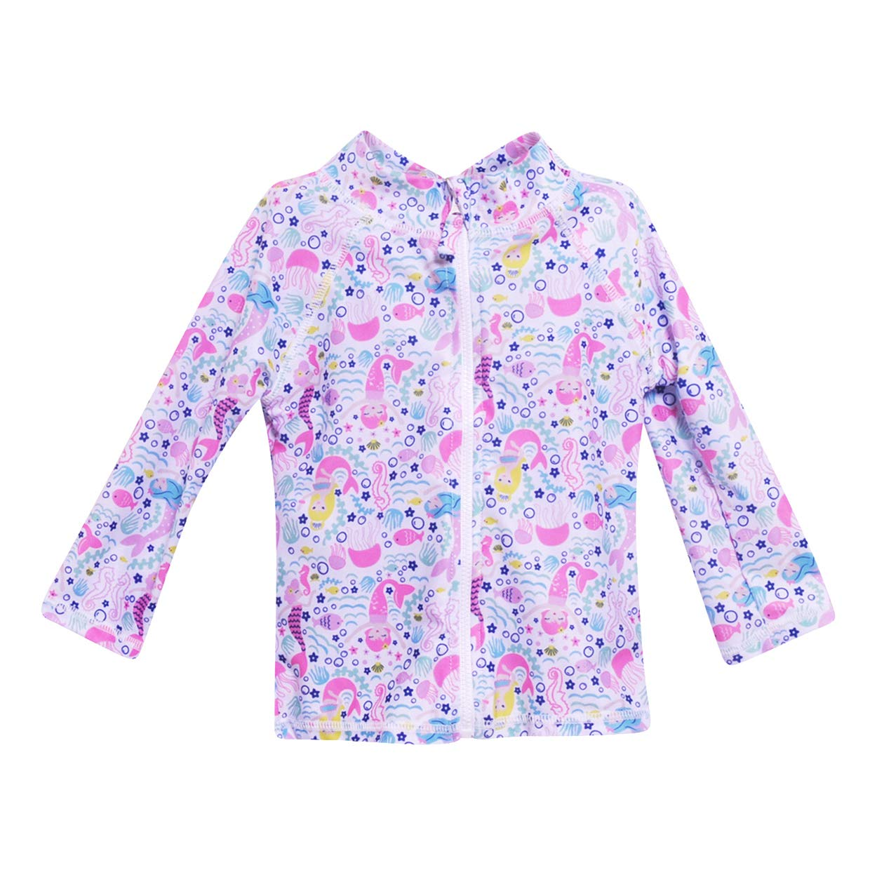 Flap Happy Toddler Girls UPF 50 Zip Front Swim Jacket