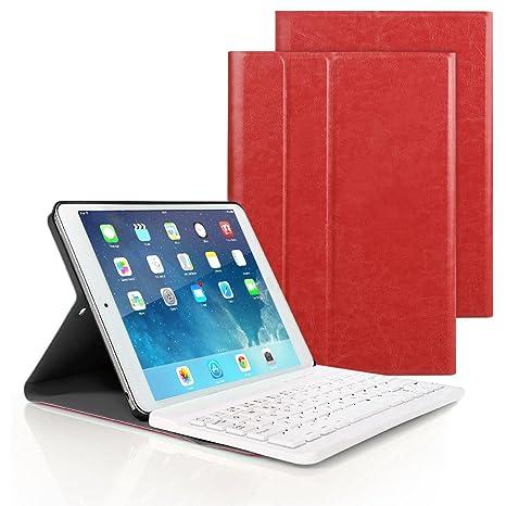 7f5ee6431c5 New iPad 9.7 Inch 2018/2017 Keyboard Case, Ultra-Slim Removable Wireless  Bluetooth