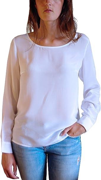 Posh Gear Mujer Blusa de Seda Rotondoseta: Amazon.es: Ropa y accesorios