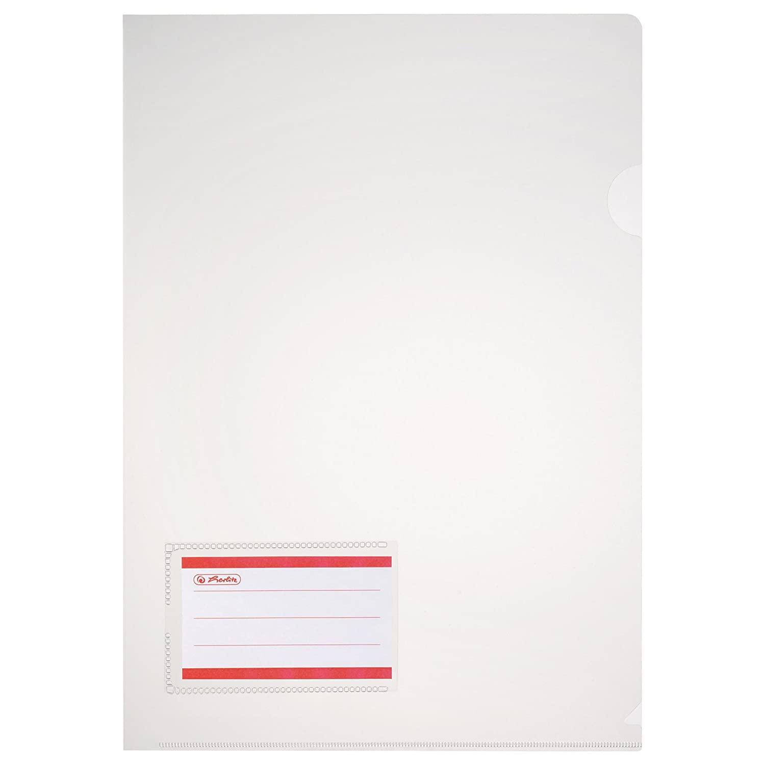 Herlitz A4 Polypropylene Plastic Folder Document Protector With Pocket 10 Pieces