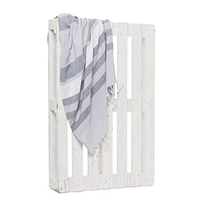 Montse Interiors Toalla Pareo Playa Reversible Tejida (Grey-3)