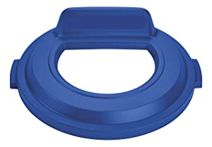 Rubbermaid Commercial Brute Recycling Lid, Open Top, 32 gal - Blue, 2017965
