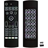 ProChosen 2.4G Backlit Air Mouse Remote, Wireless Keyboard and Infrared Learning for Kodi Android TV Box, Smart TV, PC…