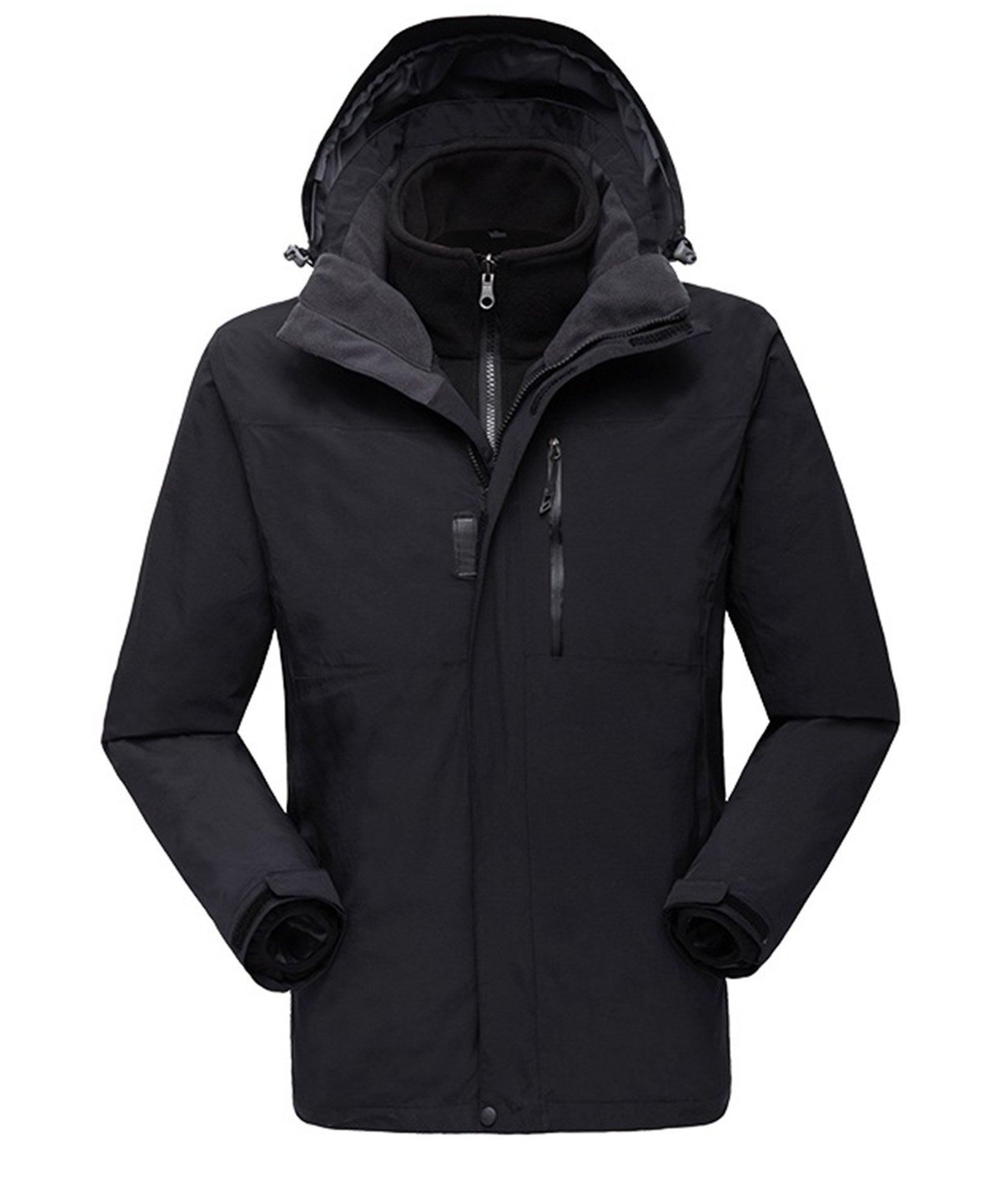 Sportswear Men's Interchange Jacket with Detachable Storm Hood Black X-Large