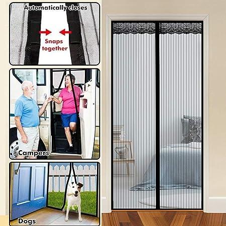 Moustiquaire porte Magn/étique Moustiquaire rideau Moustiquaire magn/étique pour portes fen/êtres Rideau Magn/étique portes fen/êtres aimant Anti Moustiques Mouches Insecte