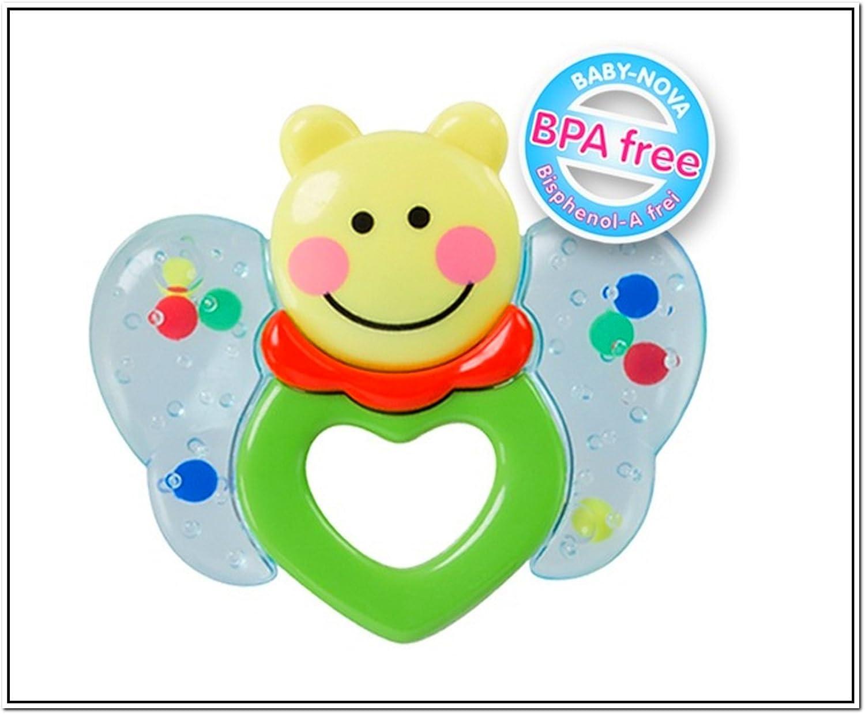 Baby Nova Anneaux de Dentition Papillon avec hochet