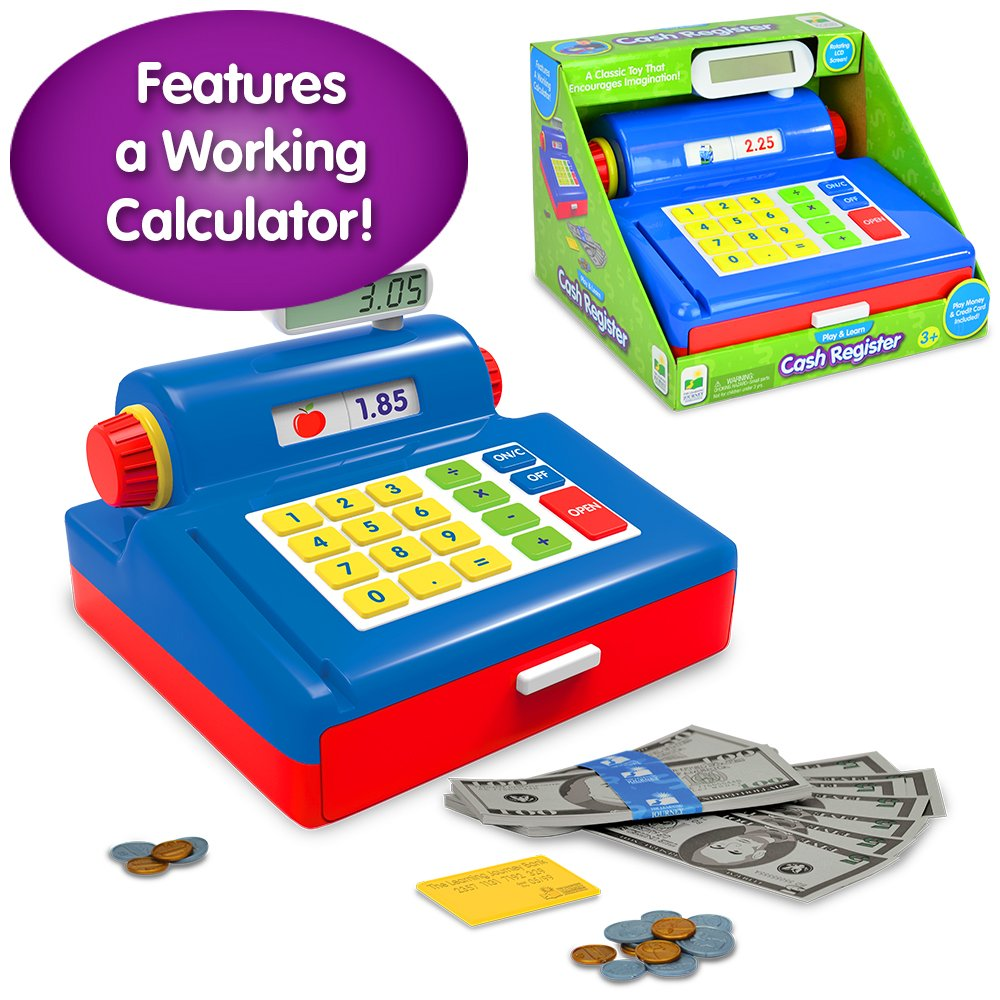 The Learning Journey Play & Learn - Cash Register - Preschool Toys & Gifts for Boys & Girls Ages 3 Years and Up - Award Winning Toy by The Learning Journey