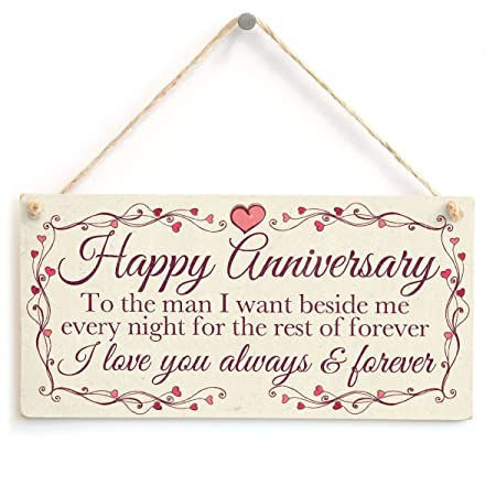 happy anniversary to the man i want beside me every night for the