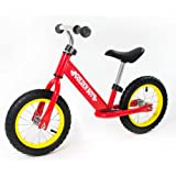 RICCO Balance Bike with Air Wheels for 3-6 Year Olds (RED)